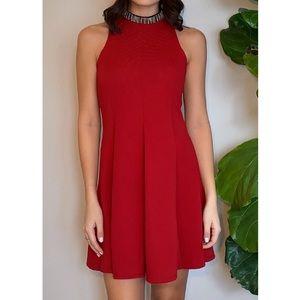 Topshop Dresses - Embellished Fit-and - Flare Dress